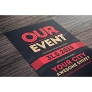 event poster template psd, modern theme flyer psd, clean design flyer photoshop