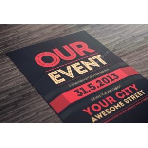 Event Flyer Template PSD (Dark design)
