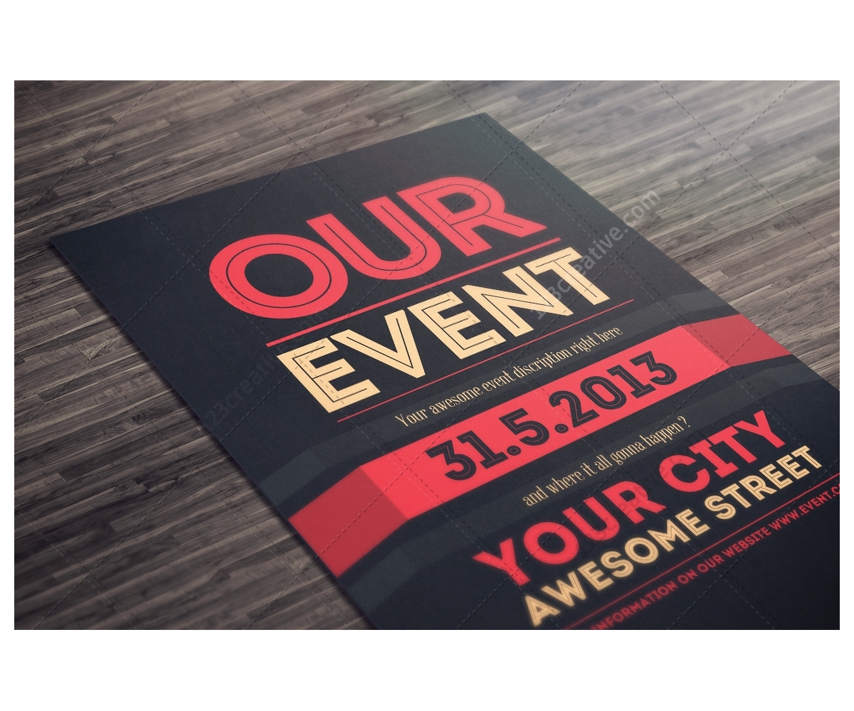 Poster design event - Event Poster Template Psd Modern Theme Flyer Psd Clean Design Flyer Photoshop