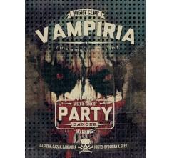Horror Flyer template design PSD