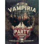 horror flyer template design, vampire flyer template psd