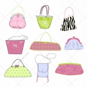 woman purse vector, lady handbag vectors