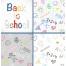Seamless vector patterns school doodles, vector letters