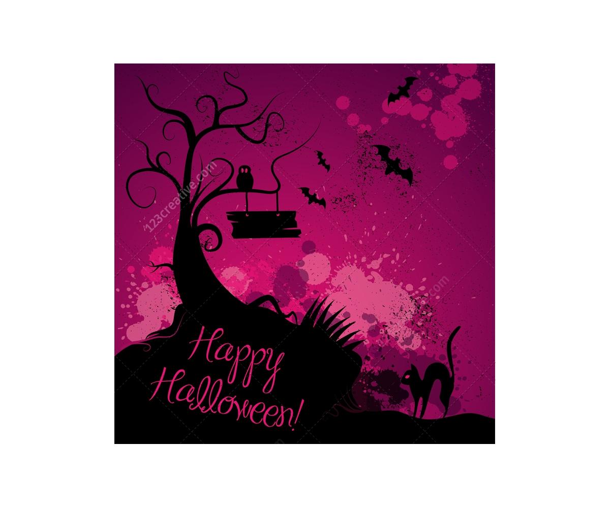 Halloween vector illustrations and cobweb vectors happy happy halloween greeting card scary halloween vector illustration kristyandbryce Images