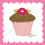bakery vector card, muffin clipart, cupcake vector