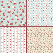 vintage rose pattern vectors, seamless rose patterns, english rose vector patterns