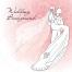romantic wedding card vector, elegant wedding invitation