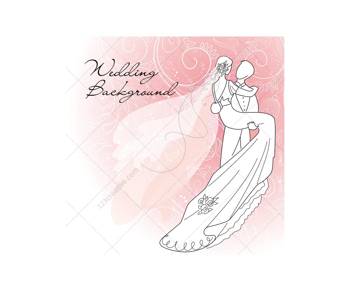 Wedding Card Vectors With Wedding Couple