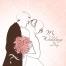 vector wedding card design, romantic wedding vector card, wedding invitation template