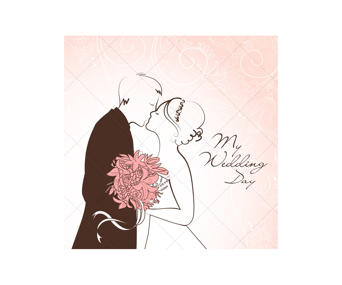 wedding card vectors with wedding couple