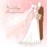 marriage invitation template, beautiful wedding vector card