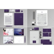 Stationery graphic template, corporate design template