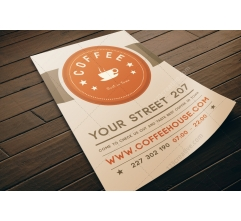 Coffee flyer template PSD (light design)