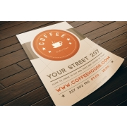 Coffee flyer template PSD, patisserie flyer template, design coffee flyer
