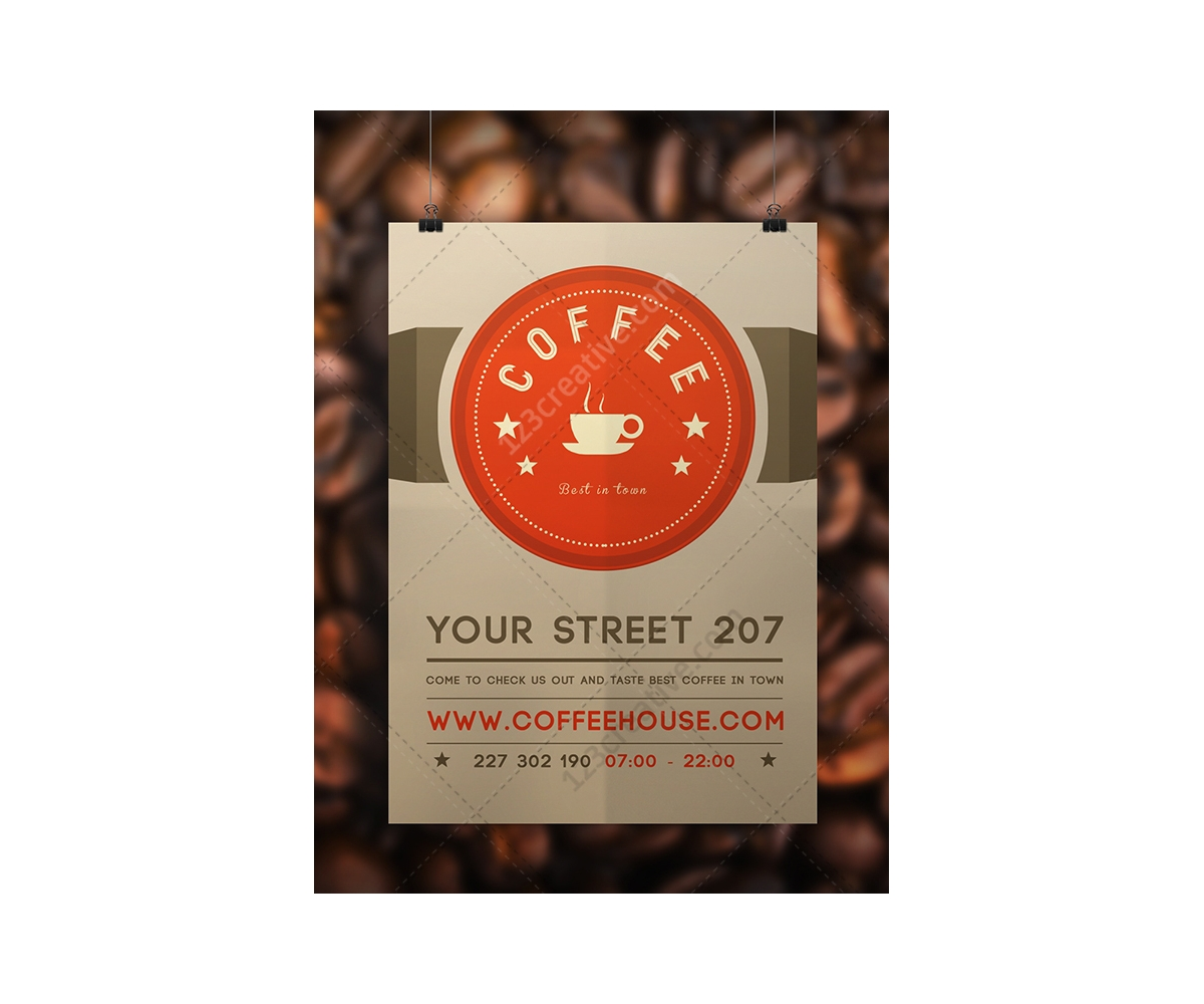 coffee flyer template psd modern light design restaurant flyer