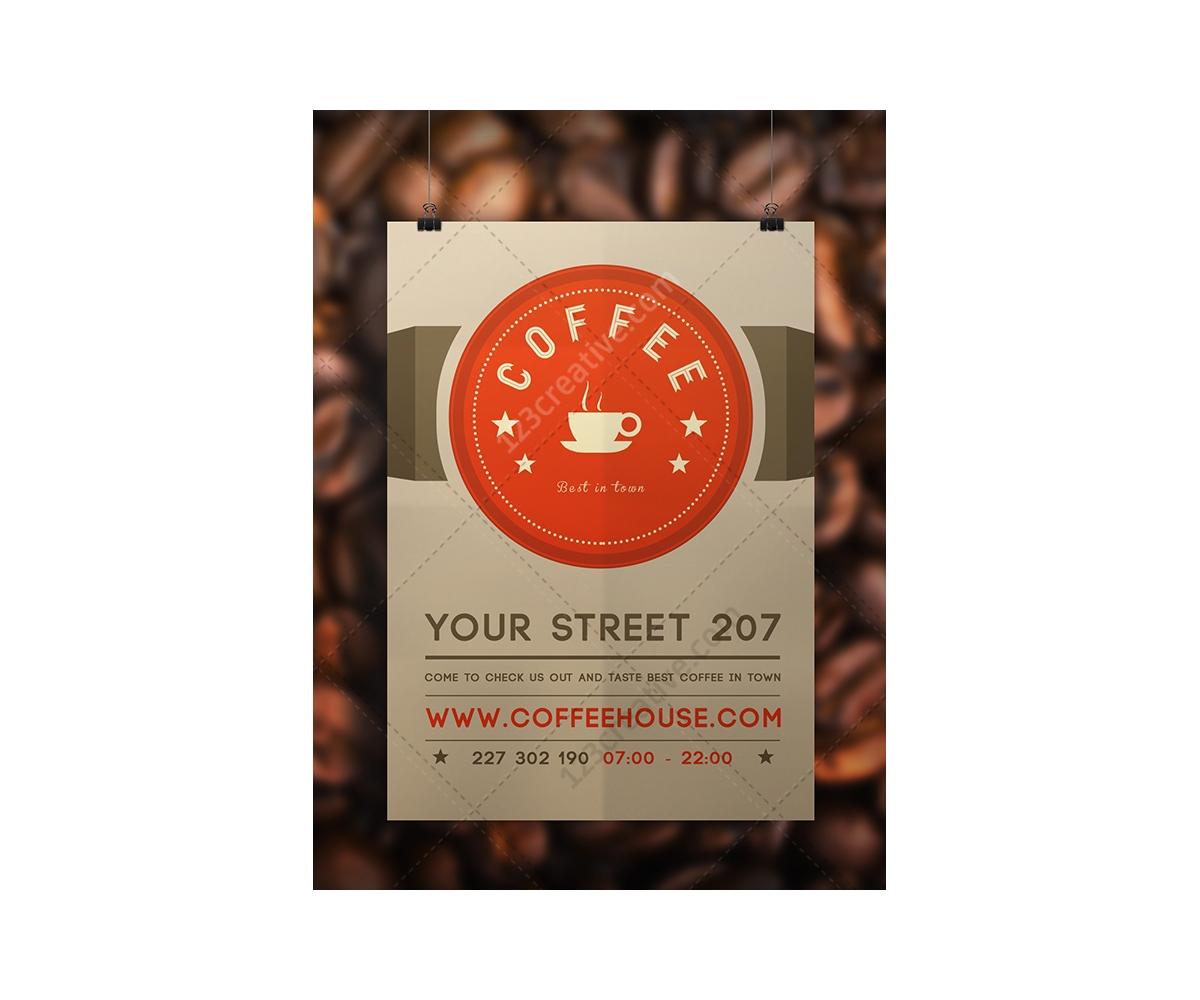 coffee flyer template psd