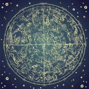 Constellations of zodiac vector illustration