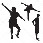 young people vector silhouettes, party people vector silhouettes