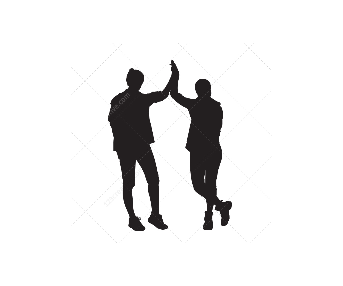 vector silhouette of people - photo #38