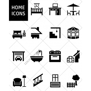15 Home icon set