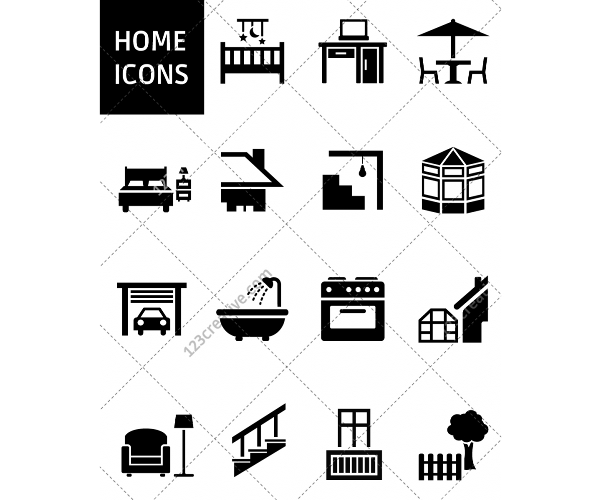 Home Icon Signs, House, Living, Home