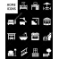 home vector icons, house vector icon, bathroom, bedroom, kitchen