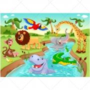 funny zoo vector illustration, cartoon vector image
