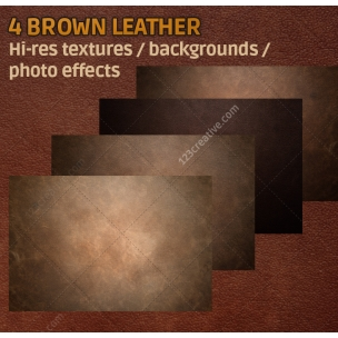 4 Brown leather textures high resolution (digitized)