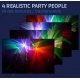 realistic party people backgrounds, disco photo background