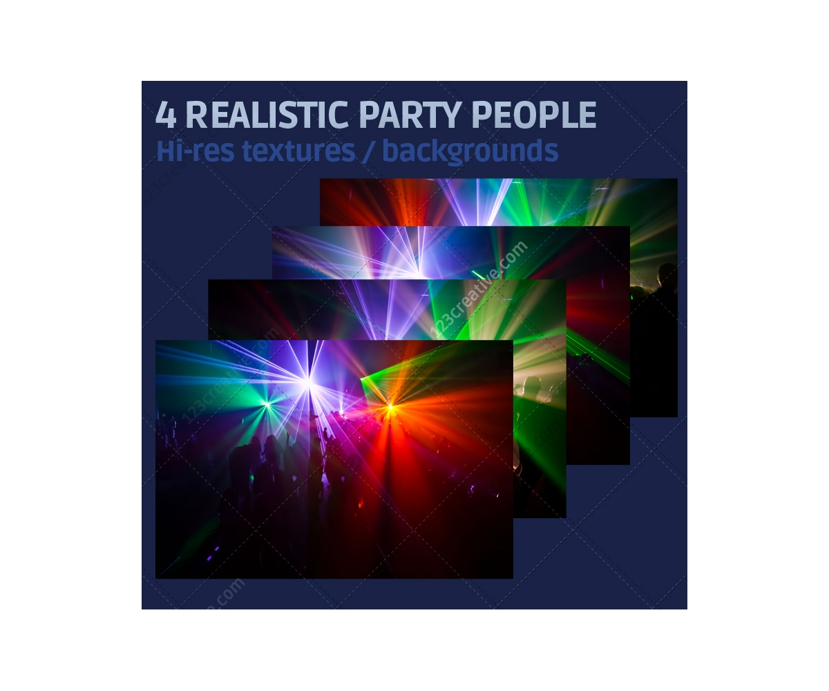 4 realistic party people backgrounds