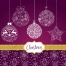 4 New Year and Christmas vector greeting cards
