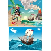 pirate adventure vector illustration, pirate vectors, treasure hunt vector graphics
