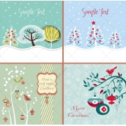 christmas vector greeting card, winter card template