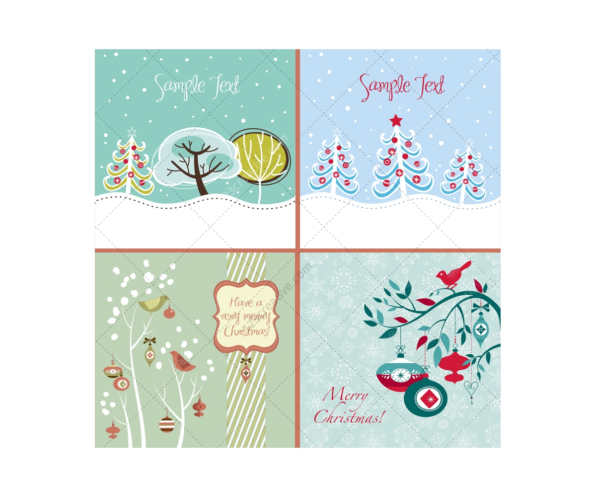 Winter and christmas vector greeting cards beautiful christmas christmas vector greeting card winter card template m4hsunfo