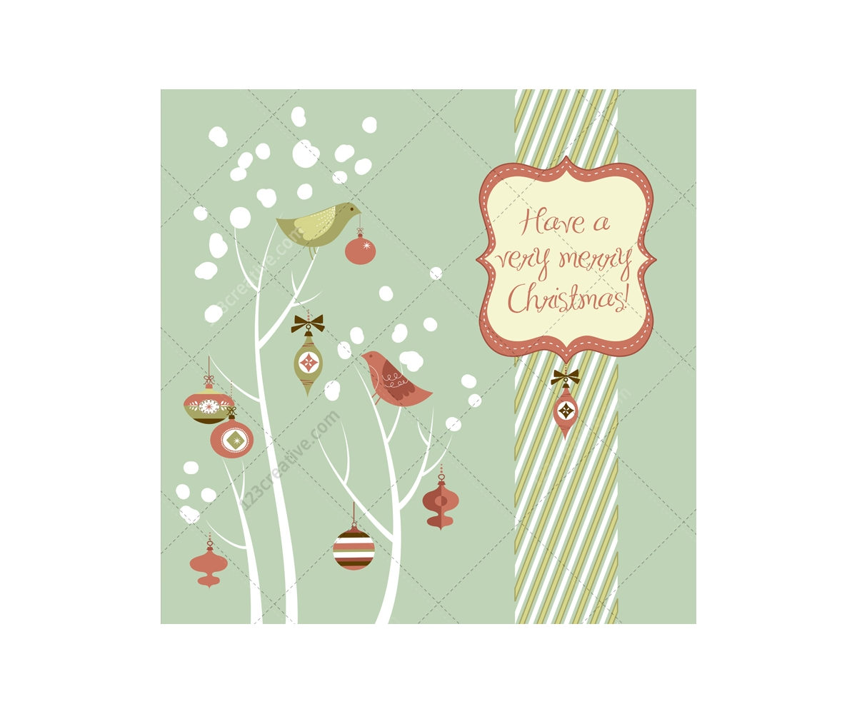 Winter And Christmas Vector Greeting Cards