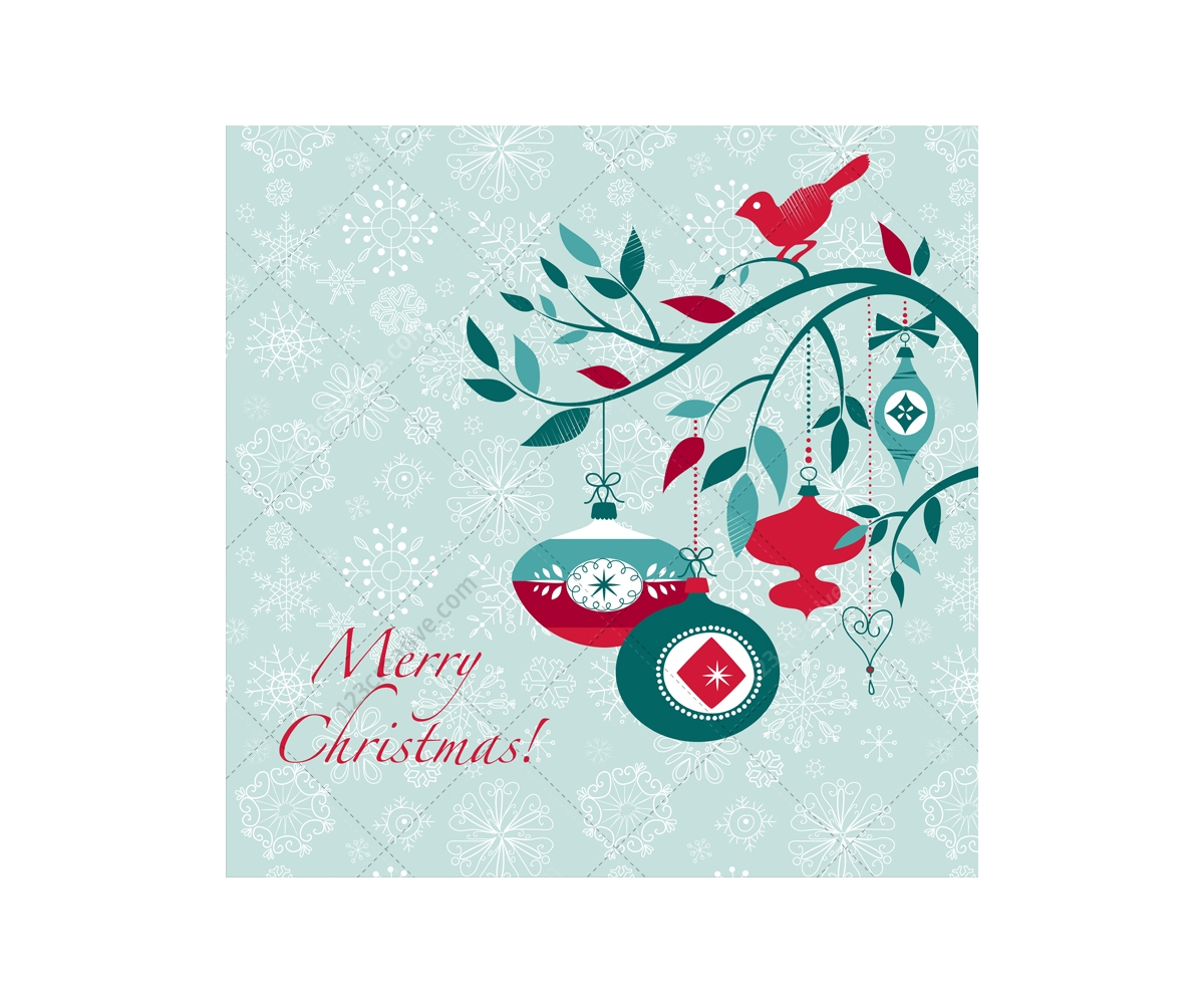 Winter and Christmas vector greeting cards - beautiful ...