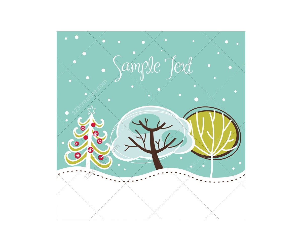 Winter And Christmas Vector Greeting Cards Beautiful Christmas