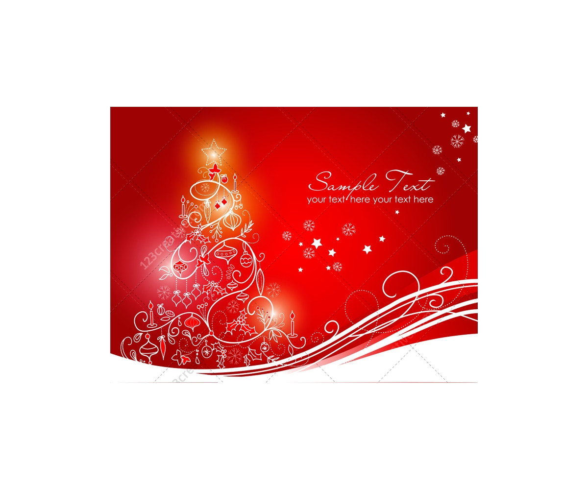 Greeting cards with christmas tree vector graphics prearranged christmas greeting cards red christmas card vector kristyandbryce Gallery