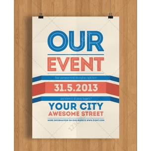 Event Flyer Template PSD (Light color)