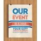 modern flyer template, invitation card template psd