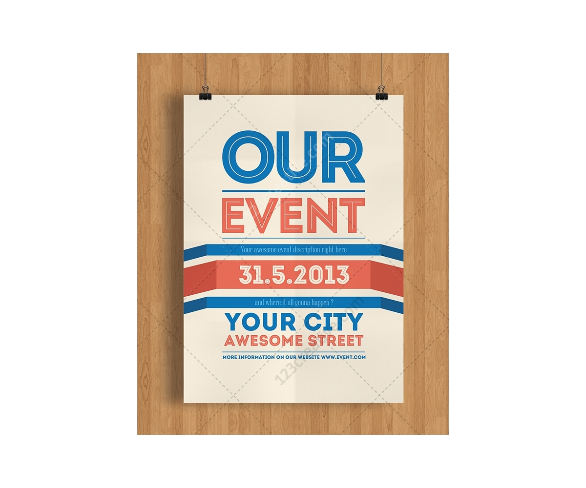 Modern poster design for party or event in your town Event Flyer – Event Flyer Templates
