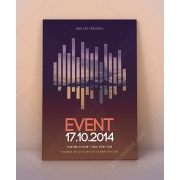 modern event flyer template psd, exhibition poster template