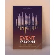 modern event flyer template psd, exhibition poster template