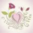 spring flower vector illustration, valentines vector art, floral vector graphics
