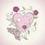 valentine heart illustration, beautiful heart vector art, ornamental heart vector download