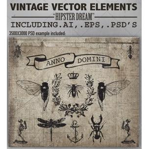Hipster dream - Vintage Vector Graphic Design Elements