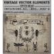 hipster vectors, Vintage Vector Graphic Design Elements