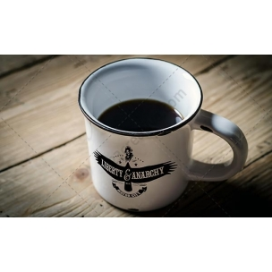 Vintage Mug mockup - logo on retro cup