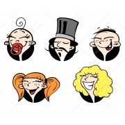 face avatar vectors, cartoon avatar vector, lady avatar vector, gentleman, boy avatar vector, girl, child avatar vector