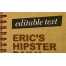 Hipster style mockup template